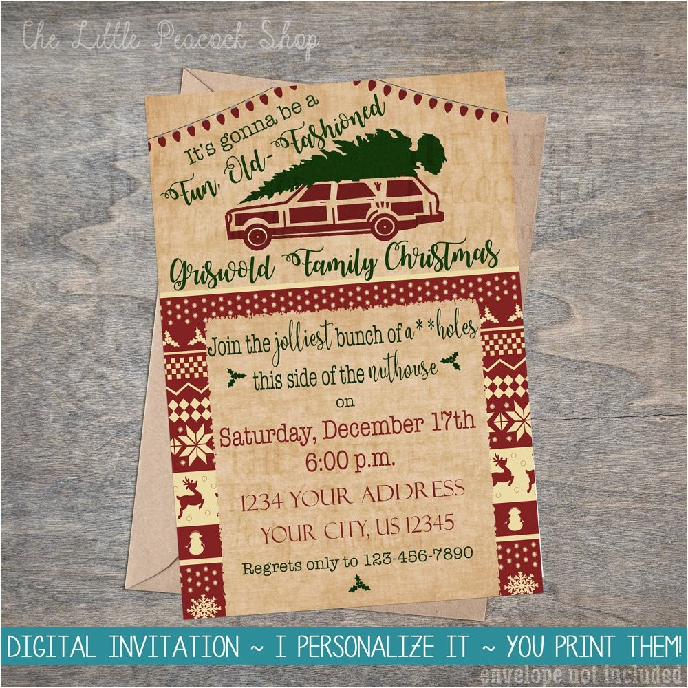 christmas vacation invitation griswold