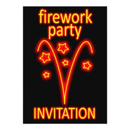 firework party invitation 161163079530254699