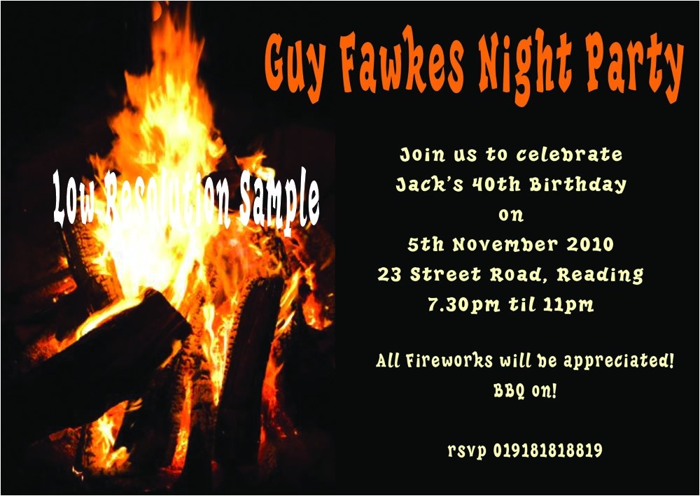 real bonfire birthday guy fawkes 1288 p
