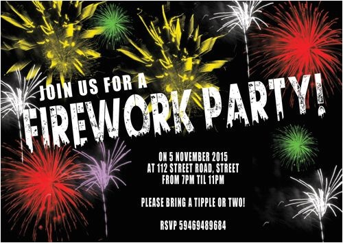 urban fireworks party invitation 3318 p
