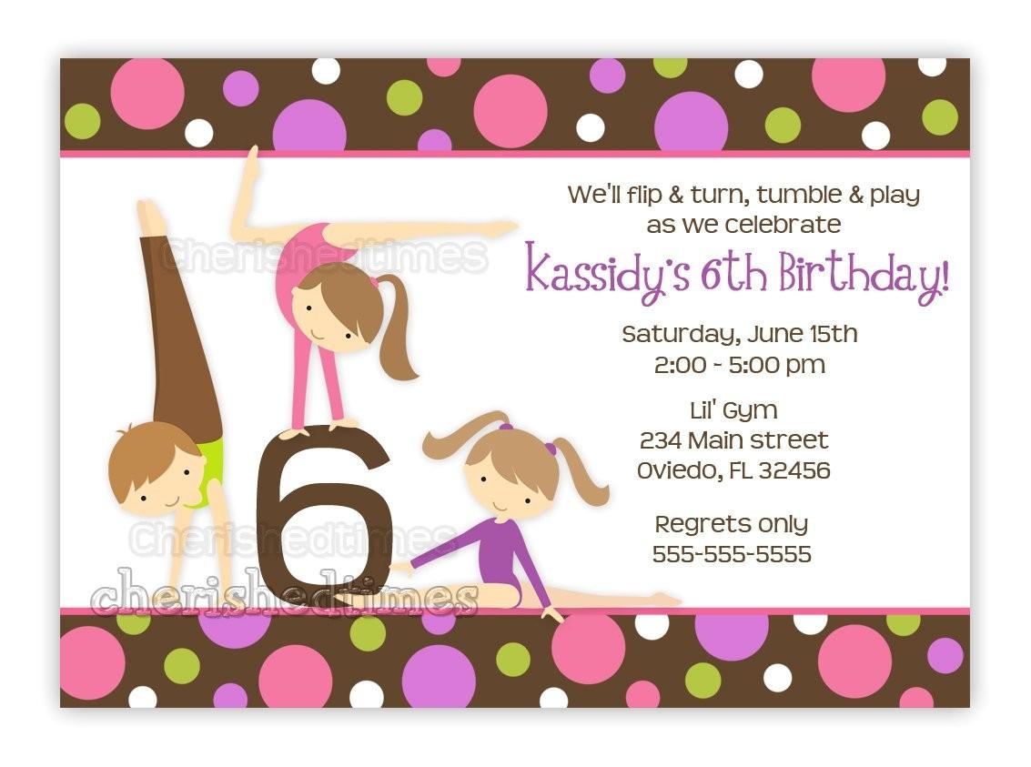 gymnastics girl birthday party