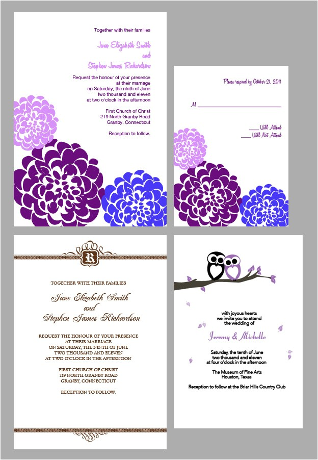 hallmark invitation free printable