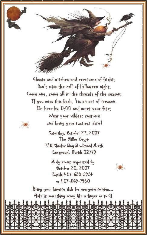 adult halloween party invitation wording