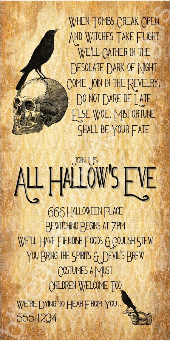 all hallows eve halloween party