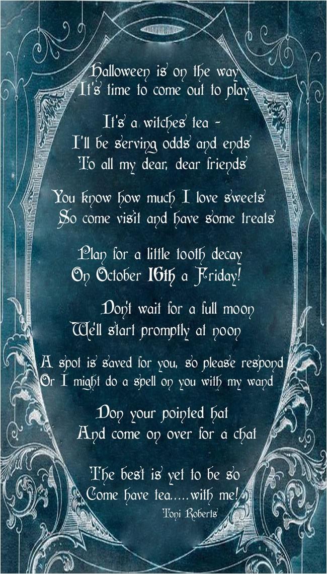 it witches tea halloween invitation