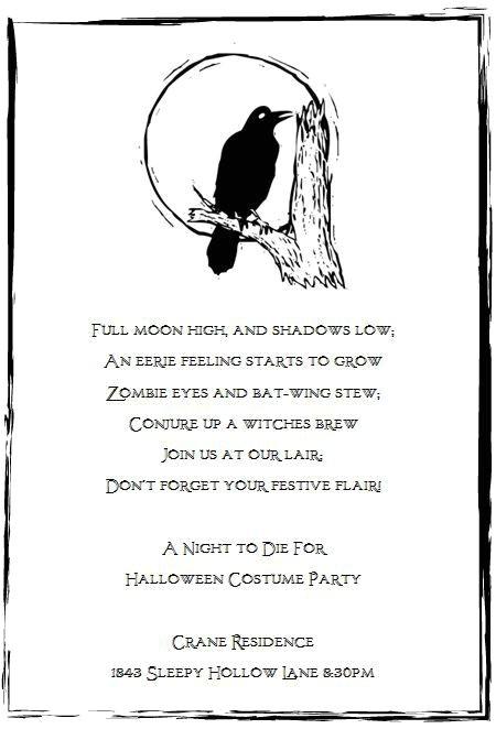 halloween invite poem
