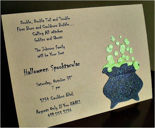 halloween poems for invitations