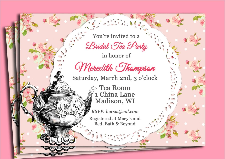 handmade tea party invitations card design tea party invitation ideas ctsfashion