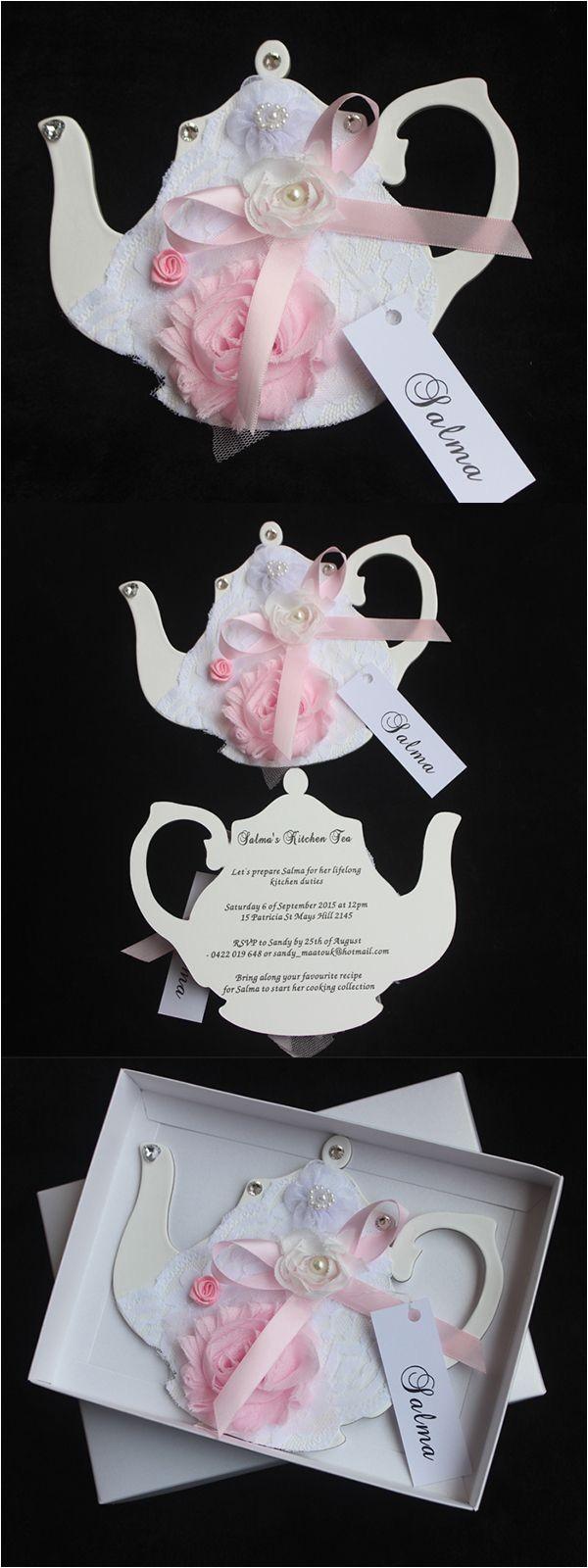 Handmade Tea Party Invitations Handmade Tea Party Invitations Cards Boxed Invitations