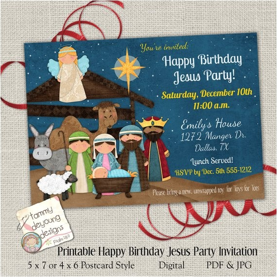 christmas party invitation happy