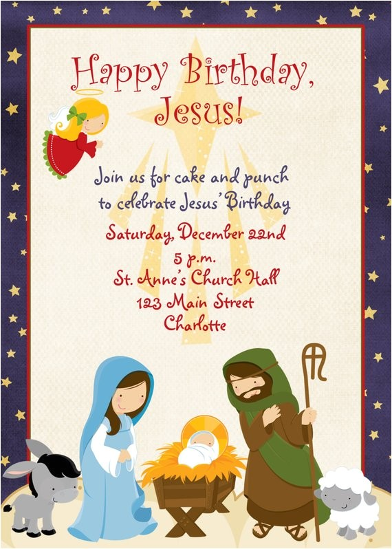 jesus birthday christmas party