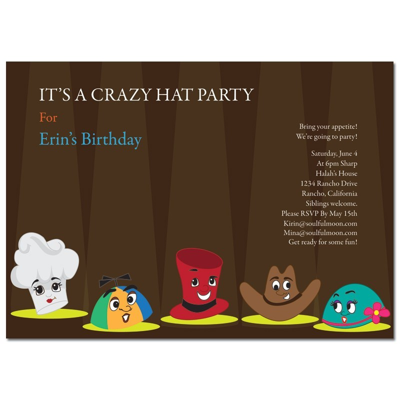 hat party invitation