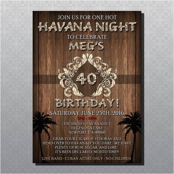 custom havana nights theme party
