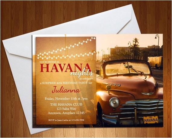 havana nights invite havana nights party ref market