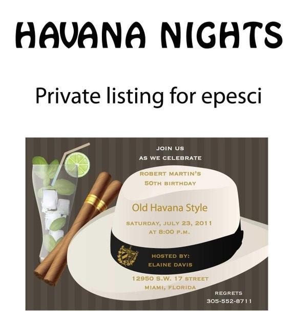 havana nights party invitation 30