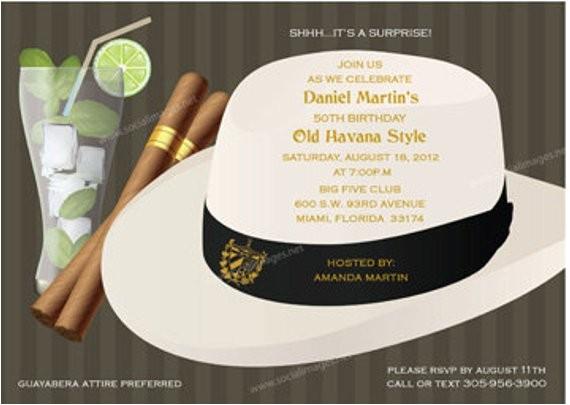 havana nights party invitation qty 25