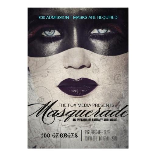 high end masquerade party invitation 161016737038015459