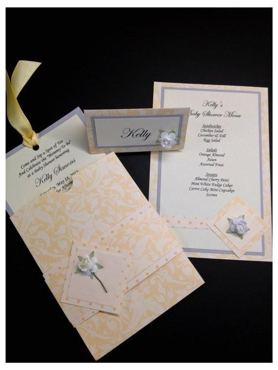 tea party invitation bridal shower