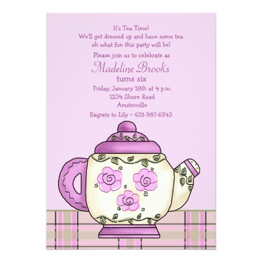 afternoon tea birthday party invitation 161402337542449657