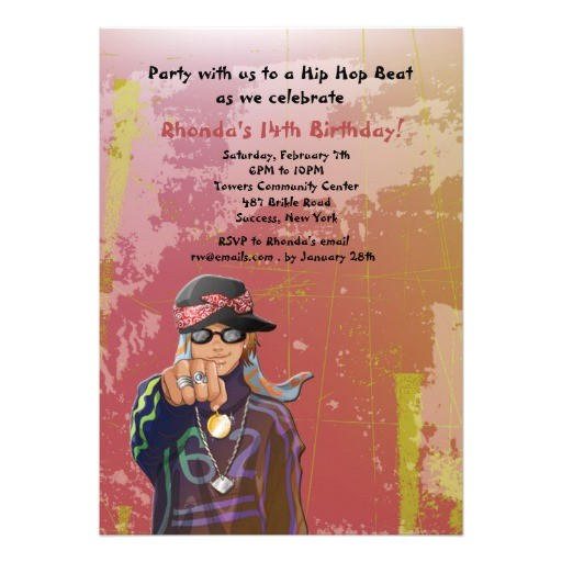 hip hop dance invitations