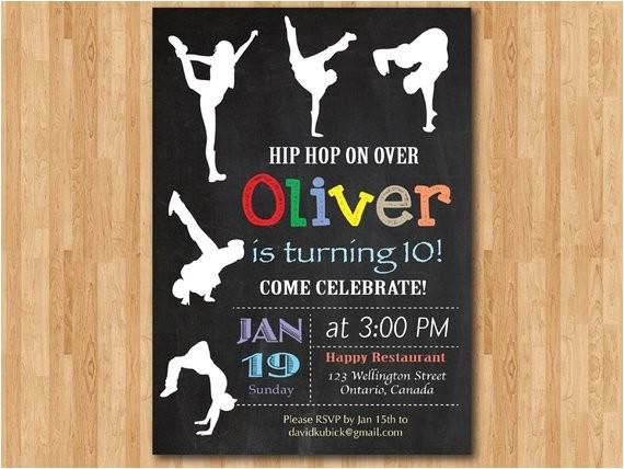 Hip Hop Party Invitations Free Hip Hop Birthday Invitation Chalkboard Birthday Party