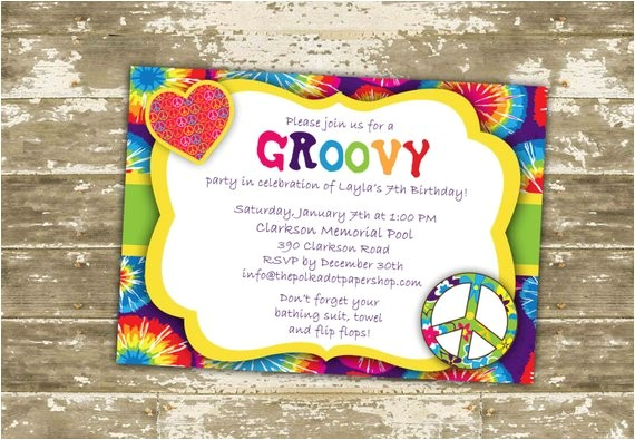 hippie invitation invite hippie birthday