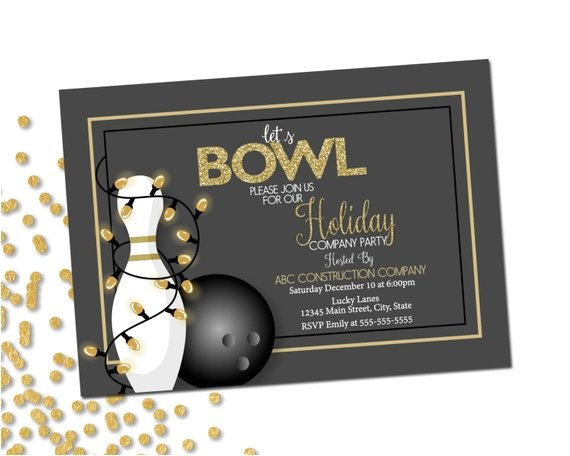 Holiday Bowling Party Invitations Company Holiday Party Invitation Bowling Party Holiday