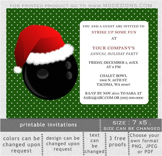 printable christmas bowling event