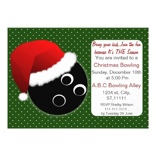 red green christmas bowling invitations 161240329061527422