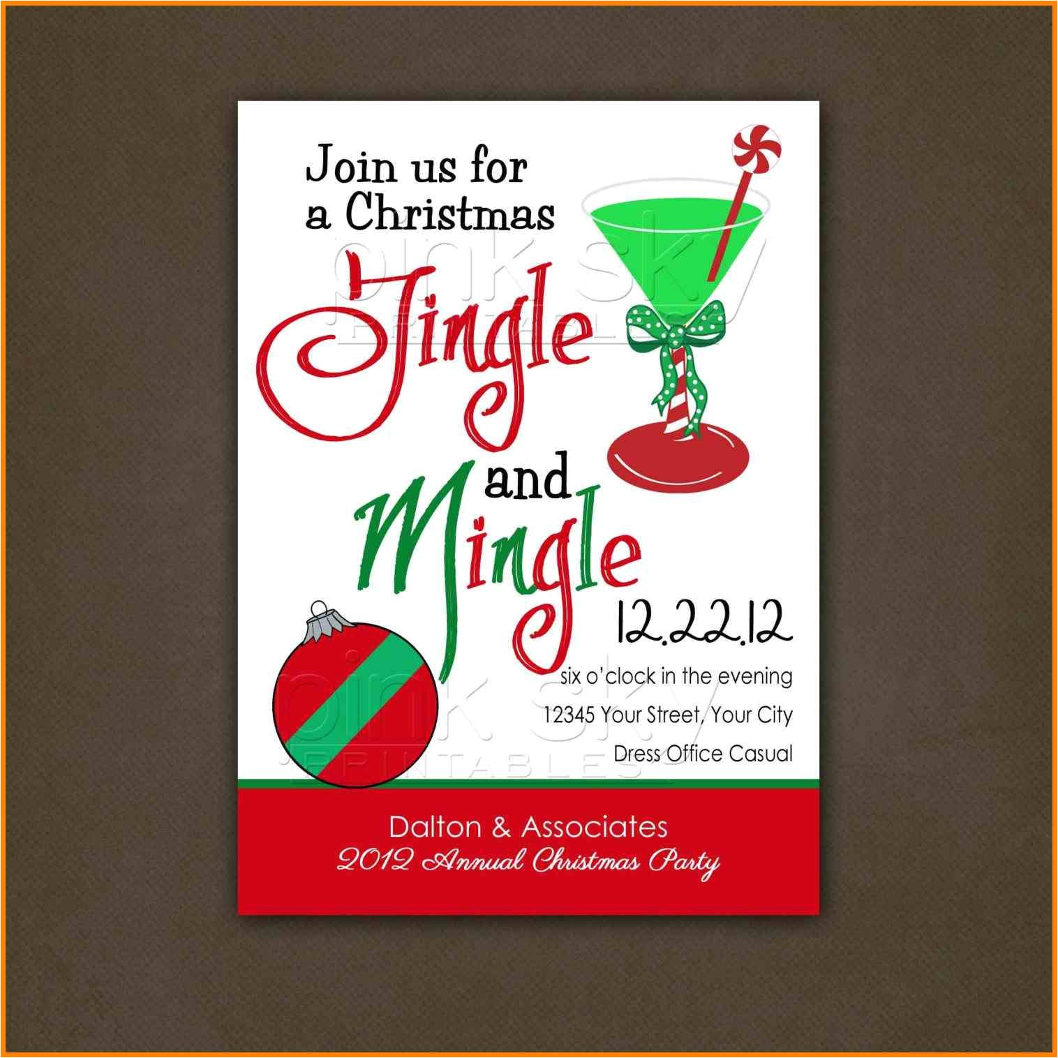 13 christmas office party invitation templates