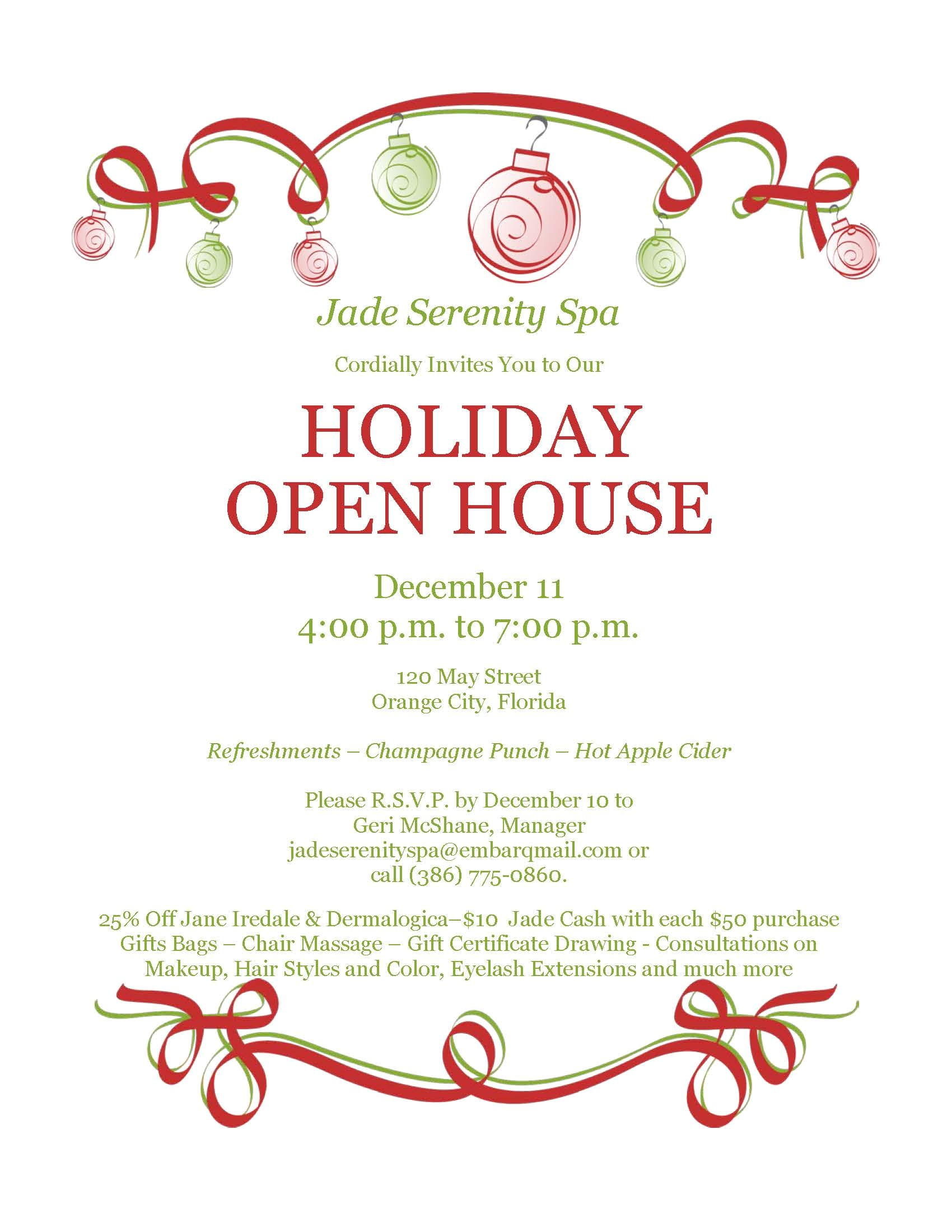 christmas 2013 holiday open house invitation 2