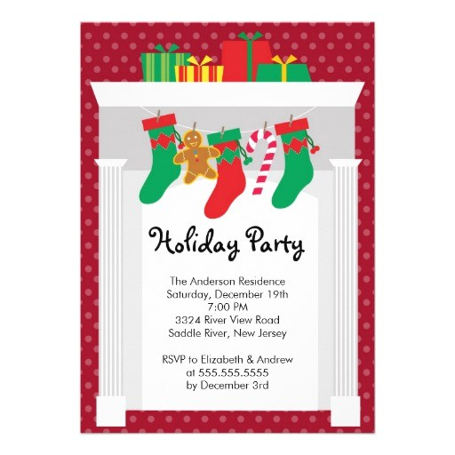 open house christmas holiday party invitation 161492241848444453