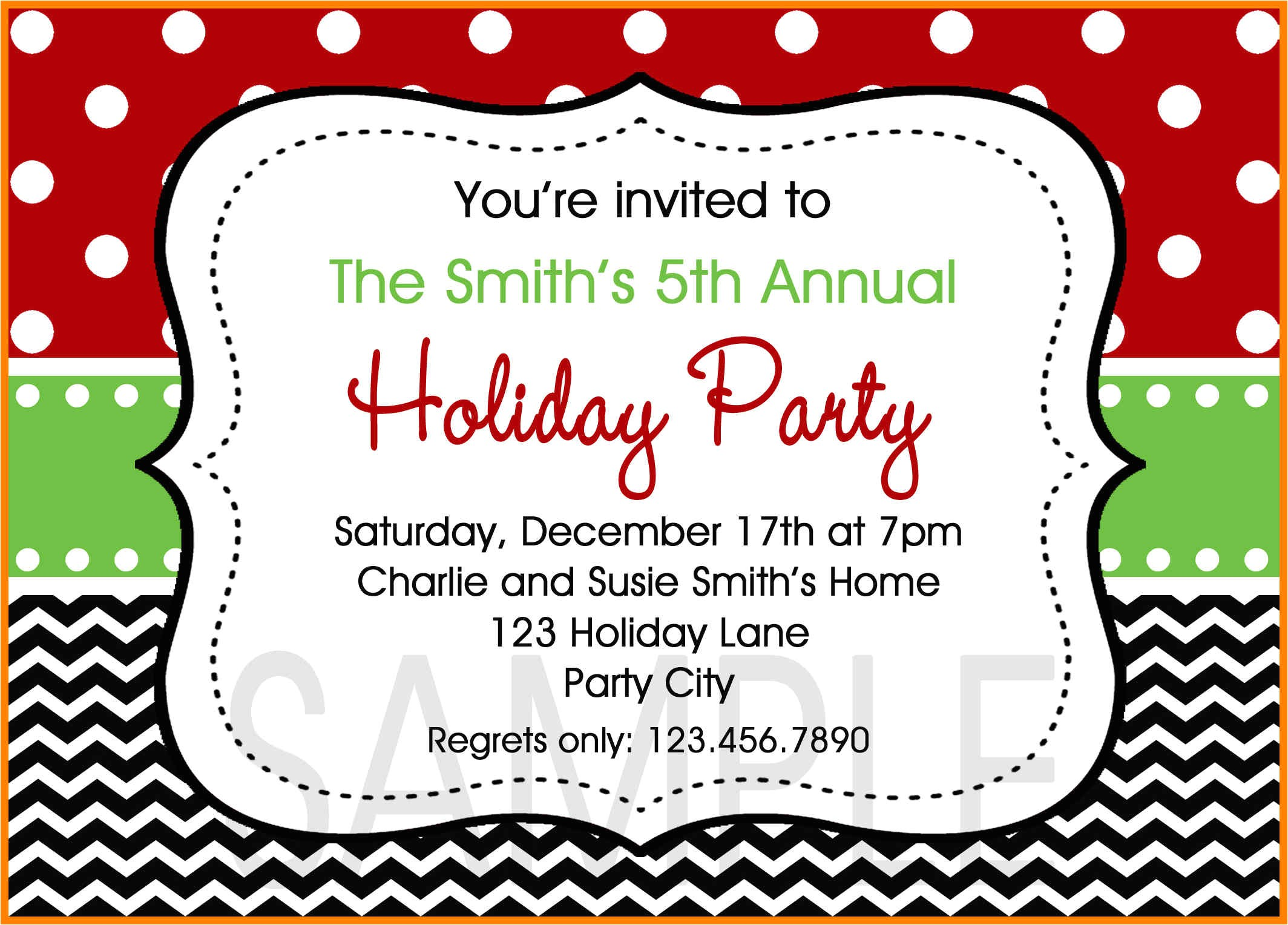 9 free office holiday party invitation template