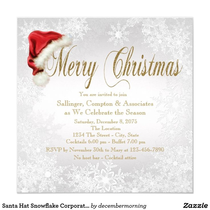 business christmas invitations