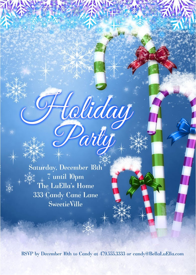 christmas and holiday party invitations