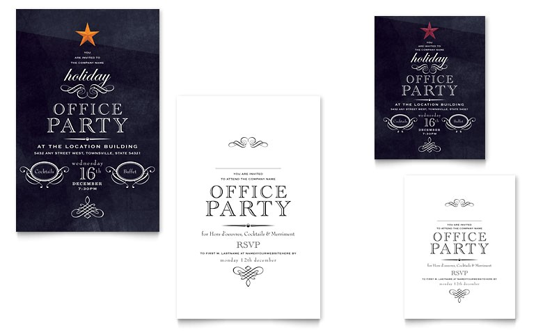 office holiday party note card templates xx1022401d