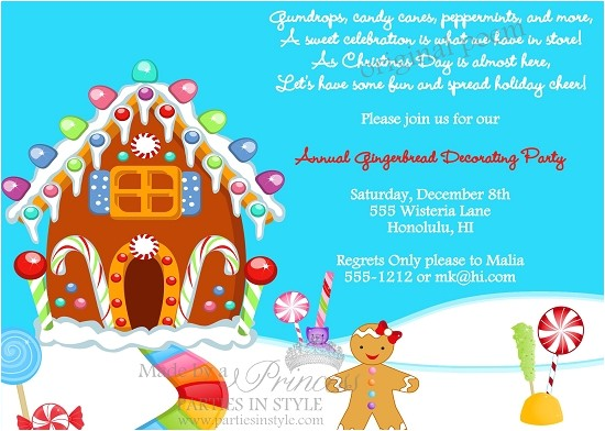 gingerbread decorating christmas holiday party invitation original poem p 457
