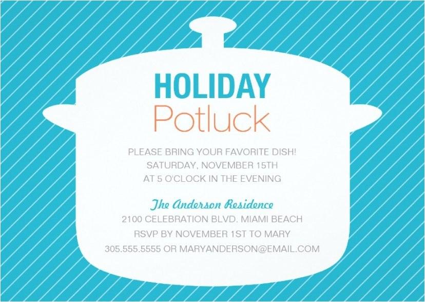 potluck party invitation