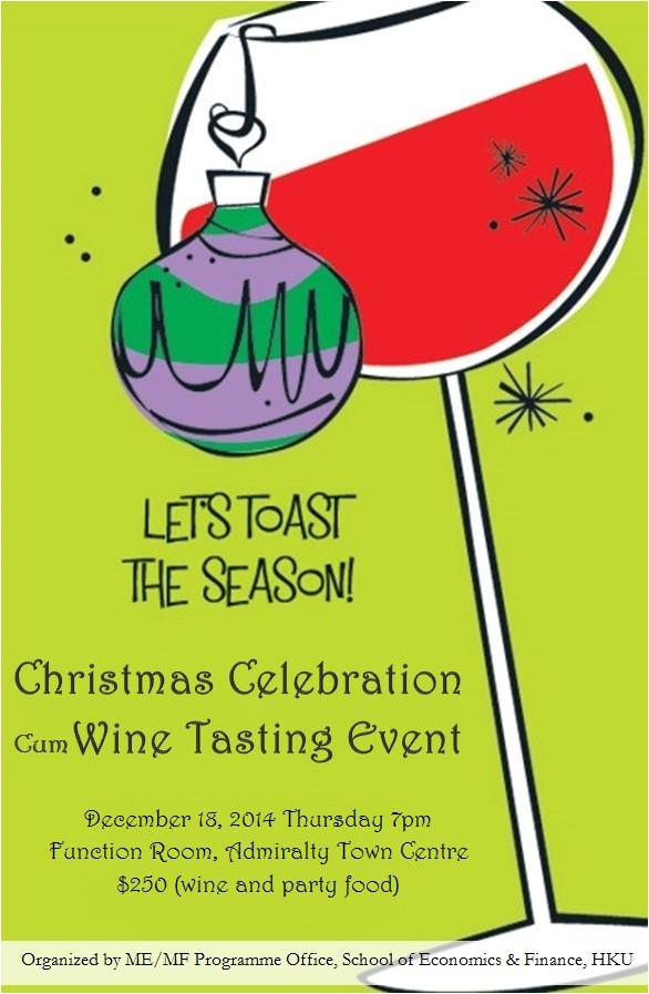 christmas celebration cum wine tasting event 2014