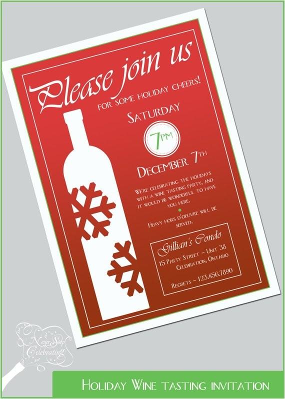 holiday wine tasting invitation