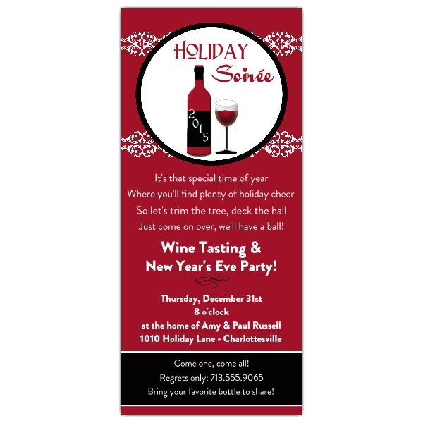 wine tasting holiday party invitations p 606 49 hlw