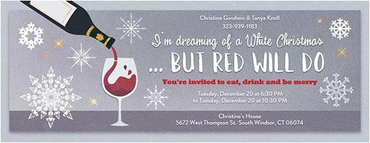 wine tasting invitations for christmas