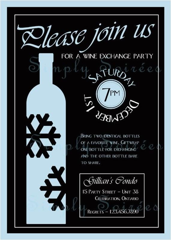 winter wine tasting invitation
