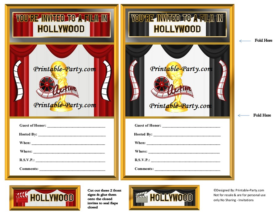 hollywood movie party supplies