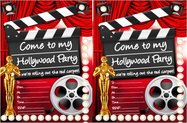 Hollywood theme Party Invites Hollywood Party Ideas Goodtoknow