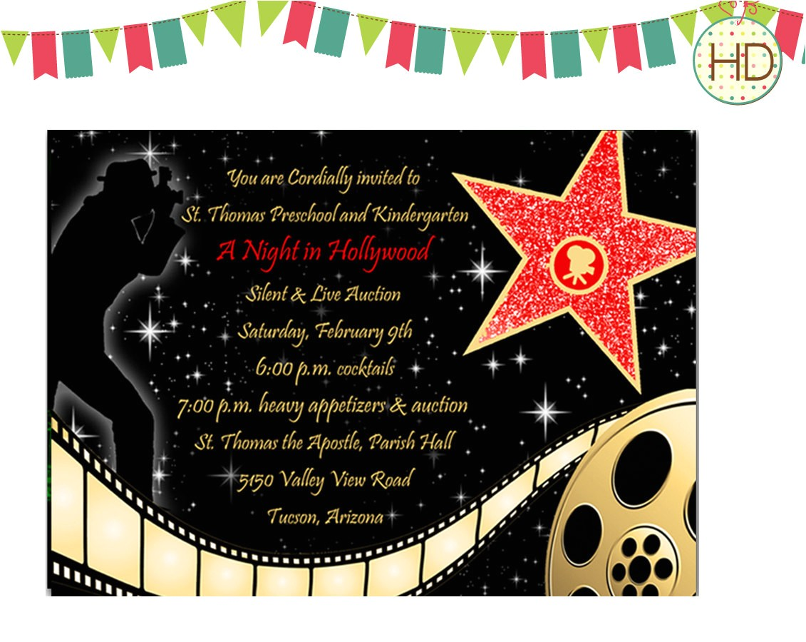 hollywood party invitations together with a picturesque view of your party invitation templates using bewitching invitations 3