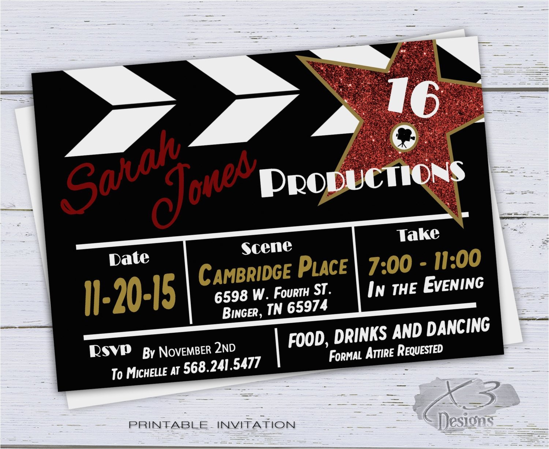 sweet 16 birthday invitation printable