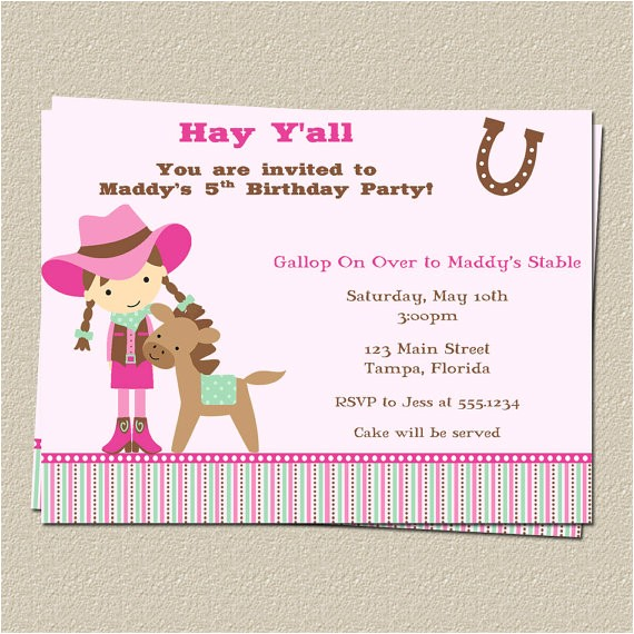 Horse themed Party Invitations Free Printable Horse Birthday Party Invitations Free