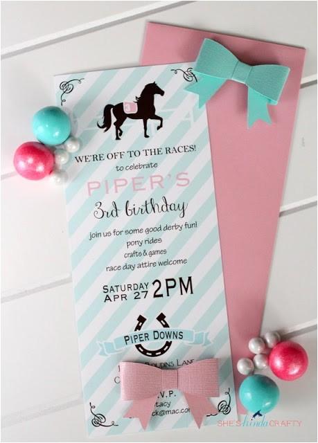 girls horse themed birthday party