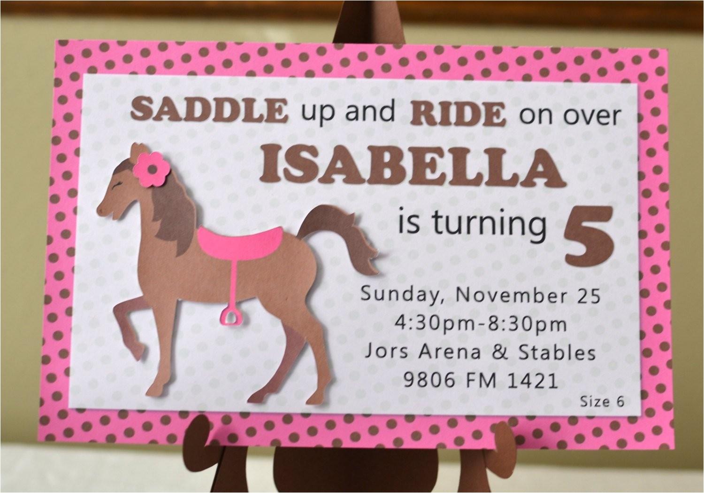 horse birthday invitations